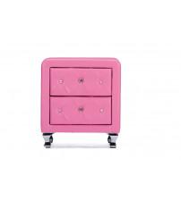 Baxton Studio BBT3084-Pink-NS Stella Crystal Tufted Modern Nightstand