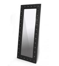 Baxton Studio Bbtm27-Black-Mirror Stella Crystal Tufted Modern Floor Mirror