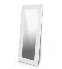Baxton Studio Bbtm27-White-Mirror Stella Crystal Tufted Modern Floor Mirror