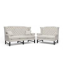 Baxton Studio BH-63102-LS-Beige/3S Sussex Beige Linen Sofa Set