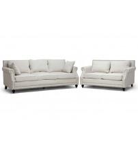 Baxton Studio BH-63801-Beige-LS/SF Mckenna Linen Modern Sofa Set