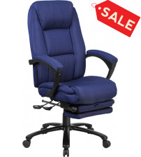 Flash Furniture BT-90288H-NY-GG High Back Fabric Executive Reclining Swivel Office Chair in Navy