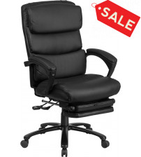 Flash Furniture BT-90519H-GG Reclining Leather Office Chair in Black