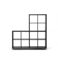 Baxton Studio Cb-2224 Sunna Dark Brown Modern Cube Shelving Unit
