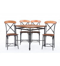 Baxton Studio CDC222 5PC Pub Set Broxburn 5-Piece Pub Set