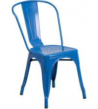 Flash Furniture CH-31230-BL-GG Blue Metal Indoor-Outdoor Stackable Chair