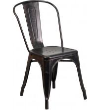 Flash Furniture CH-31230-BQ-GG Antique Metal Chair in Black