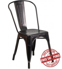 Flash Furniture CH-31230-BQ-GG Antique Metal Chair in Black