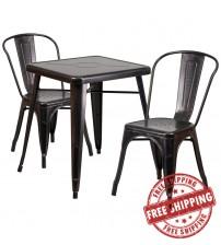 Flash Furniture CH-31330-2-30-BQ-GG Antique Metal Table Set in Black