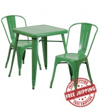 Flash Furniture CH-31330-2-30-GN-GG Metal Table Set in Green