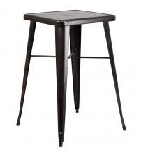 Flash Furniture CH-31330-BQ-GG Antique Square Barheight Table in Black