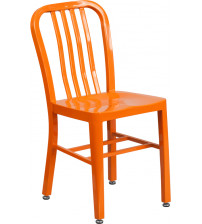 Flash Furniture CH-61200-18-OR-GG Orange Metal Indoor-Outdoor Chair