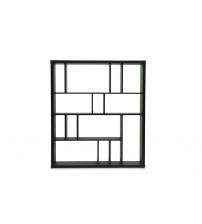 Baxton Studio D-291-Shelf (3A) Danett Modern Bookshelf in Dark Brown