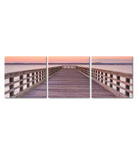 Baxton Studio De-3042Abc Pier Sunset Mounted Photography Print Triptych