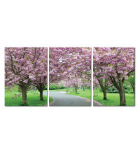 Baxton Studio De-3062Abc Spring In Bloom Mounted Photography Print Triptych