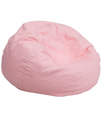 Flash Furniture Oversized Light Pink Dot Bean Bag Chair DG-BEAN-LARGE-DOT-PK-GG