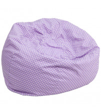 Flash Furniture Oversized Lavender Dot Bean Bag Chair DG-BEAN-LARGE-DOT-PUR-GG