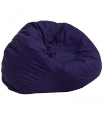 Flash Furniture Oversized Solid Navy Blue Bean Bag Chair DG-BEAN-LARGE-SOLID-BL-GG