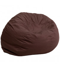 Flash Furniture Oversized Solid Brown Bean Bag Chair DG-BEAN-LARGE-SOLID-BRN-GG