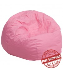 Flash Furniture Oversized Solid Light Pink Bean Bag Chair DG-BEAN-LARGE-SOLID-PK-GG