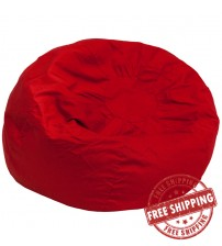 Flash Furniture Oversized Solid Red Bean Bag Chair DG-BEAN-LARGE-SOLID-RED-GG