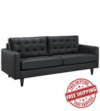 Modway EEI-1010-BLK Empress Sofa in Black