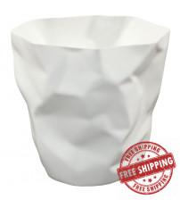 Modway EEI-1022-WHI Lava Trash Bin in White