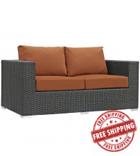 Modway EEI-1851-CHC-TUS Sojourn Outdoor Patio Sunbrella Loveseat in Canvas Tuscan
