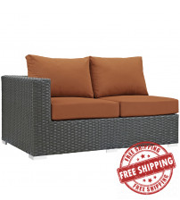 Modway EEI-1858-CHC-TUS Sojourn Outdoor Patio Sunbrella Left Arm Loveseat in Canvas Tuscan
