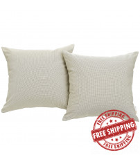 Modway EEI-2001-BEI Convene Two Piece Outdoor Patio Pillow Set in Beige