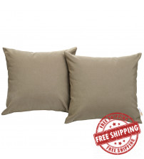 Modway EEI-2001-MOC Convene Two Piece Outdoor Patio Pillow Set in Mocha