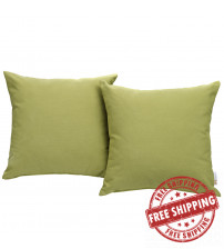 Modway EEI-2001-PER Convene Two Piece Outdoor Patio Pillow Set in Peridot
