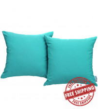 Modway EEI-2001-TRQ Convene Two Piece Outdoor Patio Pillow Set in Turquoise