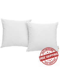 Modway EEI-2001-WHI Convene Two Piece Outdoor Patio Pillow Set in White