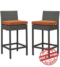 Modway EEI-2195-CHC-TUS-SET Sojourn 2 Piece Outdoor Patio Sunbrella Pub Set in Canvas Tuscan