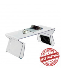 Modway EEI-562-CLR Magazine Coffee Table in Clear