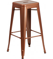 Flash Furniture ET-BT3503-30-POC-GG 30''H Backless Indoor-Outdoor Barstool in Copper