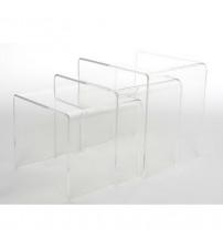 Baxton Studio Coffee Table Clear FAY-510