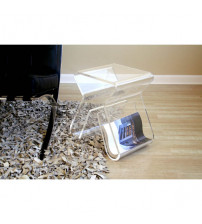 Baxton Studio End Table Clear FAY-8196-Clear