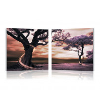 Baxton Studio Fe-5009Ab Lilac Enchantment Mounted Photography Print Diptych