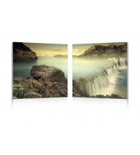 Baxton Studio Fg-1037Ab Unbridled Power Mounted Photography Print Diptych