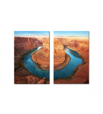 Baxton Studio Fg-1043Ab Wraparound Waterway 1 Mounted Photography Print Diptych