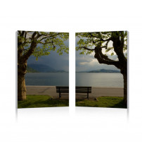 Baxton Studio Fg-1067Ab Pristine View Mounted Photography Print Diptych