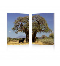 Baxton Studio Fg-1073Ab Tree Of Life Mounted Photography Print Diptych