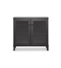 Baxton Studio FP-01LV-Espresso Coolidge Espresso Shoe-Storage Cabinet