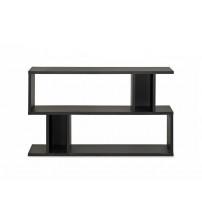 Baxton Studio FP-2DS-Shelf Goodwin 2-Level Modern Bookshelf in Dark Brown