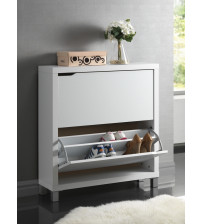 Baxton Studio Fp-2Ous-White Simms White Modern Shoe Cabinet