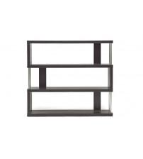 Baxton Studio Fp-3D Barnes Dark Brown Three-Shelf Modern Bookcase