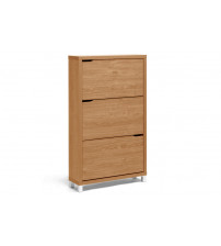 Baxton Studio Fp-3Oush-Maple Simms Maple Modern Shoe Cabinet