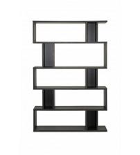 Baxton Studio FP-5DS-Shelf (3A) Goodwin 5-Level Modern Bookshelf in Dark Brown